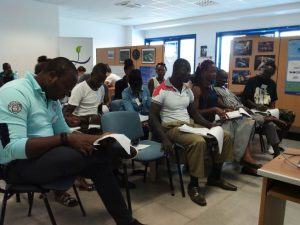 Studenti ghanesi durante la formazione professionale nella nostra azienda